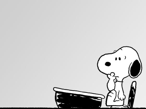 strip-snoopy-at-desk-peanuts-fanpop-104717