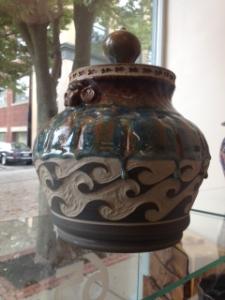 pottery in window