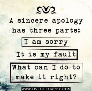 sincere apology