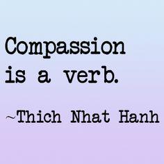 Compassion verb